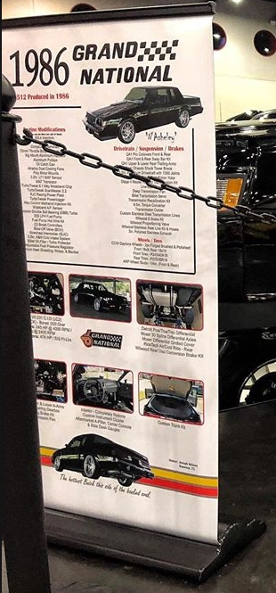 Buick Grand National Car Show Signs