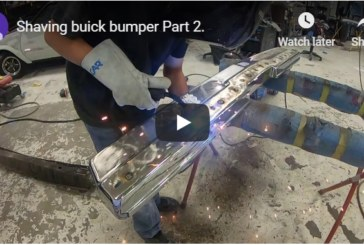 How to Shave (Make Smooth) Metal Bumpers on a Buick Turbo Regal (video)