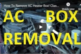 Removing AC Heater Box & Fixing Related Issues (video)