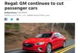 Buick Regal Production Ends