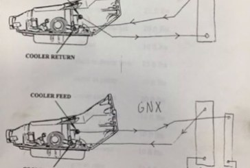 Transmission Cooler Lines Routing Diagram