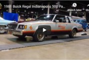 Original 1981 Buick Regal Indianapolis 500 Pace Car (video)