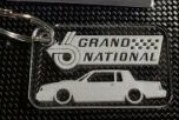 Acrylic Buick Grand National Key Chains