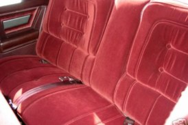 A Quick Look Inside at The Red Interior of a 1987 Buick Limited