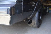 Custom Black Exhaust Tips Installed on a Buick Grand National