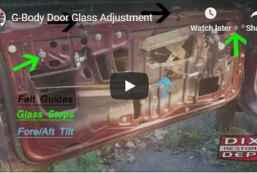 Window Door Glass Adjustment