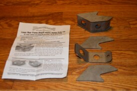 Weld on Rear Lower Control Arm Reinforcement Support Braces