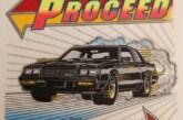 Vintage Turbo Buick Themed Printed Felts