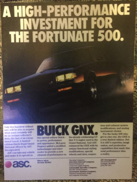 About That 1987 Buick Regal Grand National GNX
