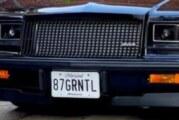 Bad Good '87 Buick Grand National Vanity Plates